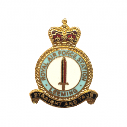 Royal Air Force RAF Station Leeming Lapel Badge